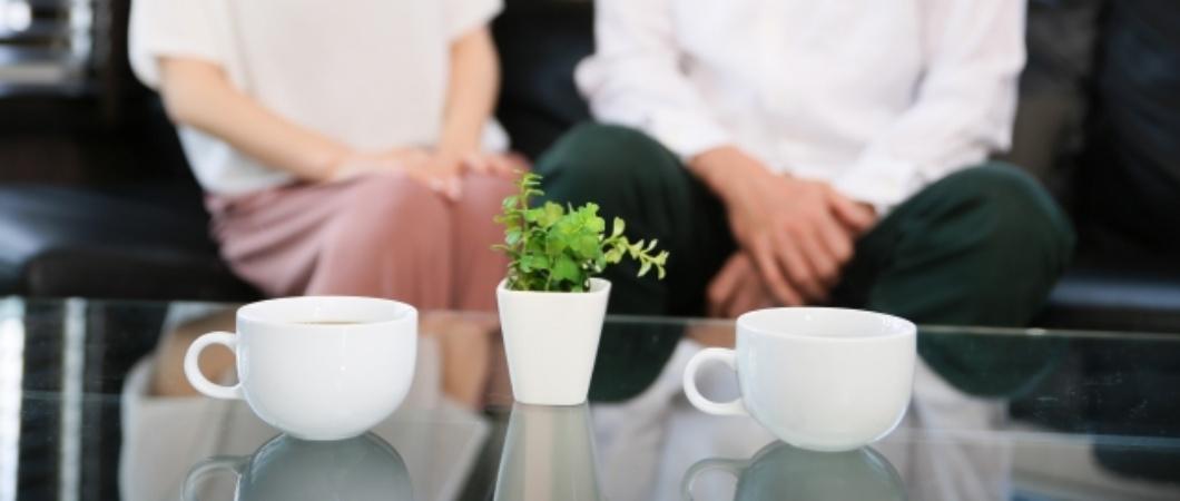 夫婦で仲良くコーヒーブレイク